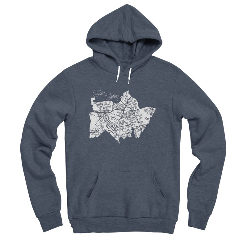 Silver Spring Map Men's Pullover Hoody by @pike.and.rozay