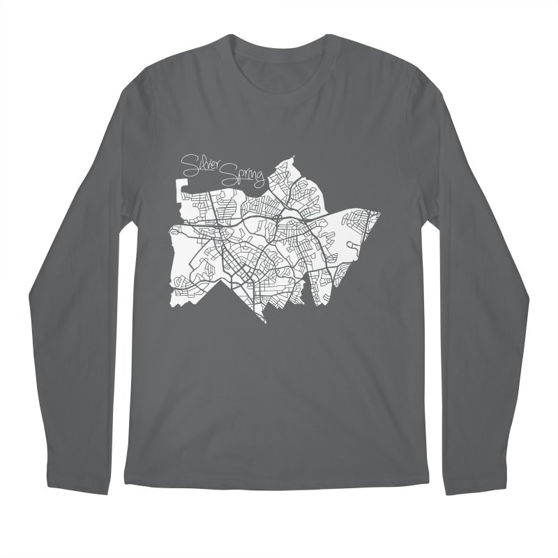 Silver Spring Map Men's Longsleeve T-Shirt by @pike.and.rozay