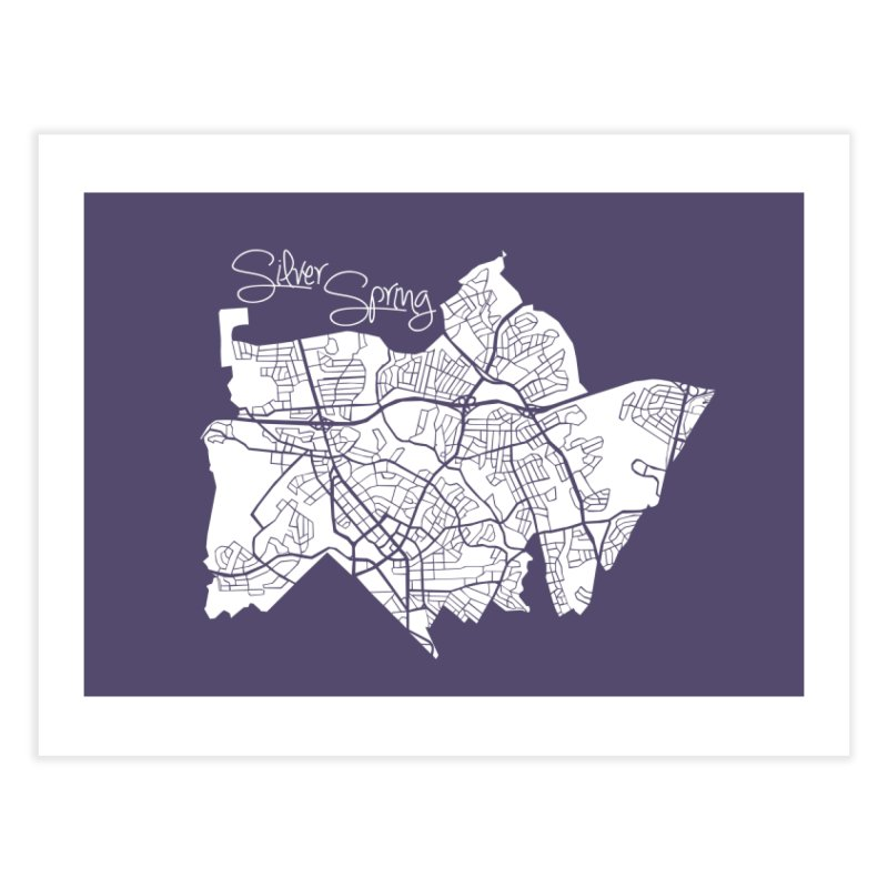 Silver Spring Map Home Fine Art Print by @pike.and.rozay