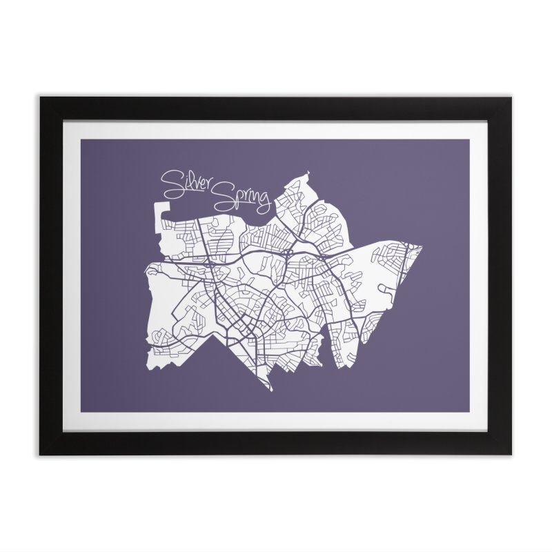 Silver Spring Map Home Framed Fine Art Print by @pike.and.rozay