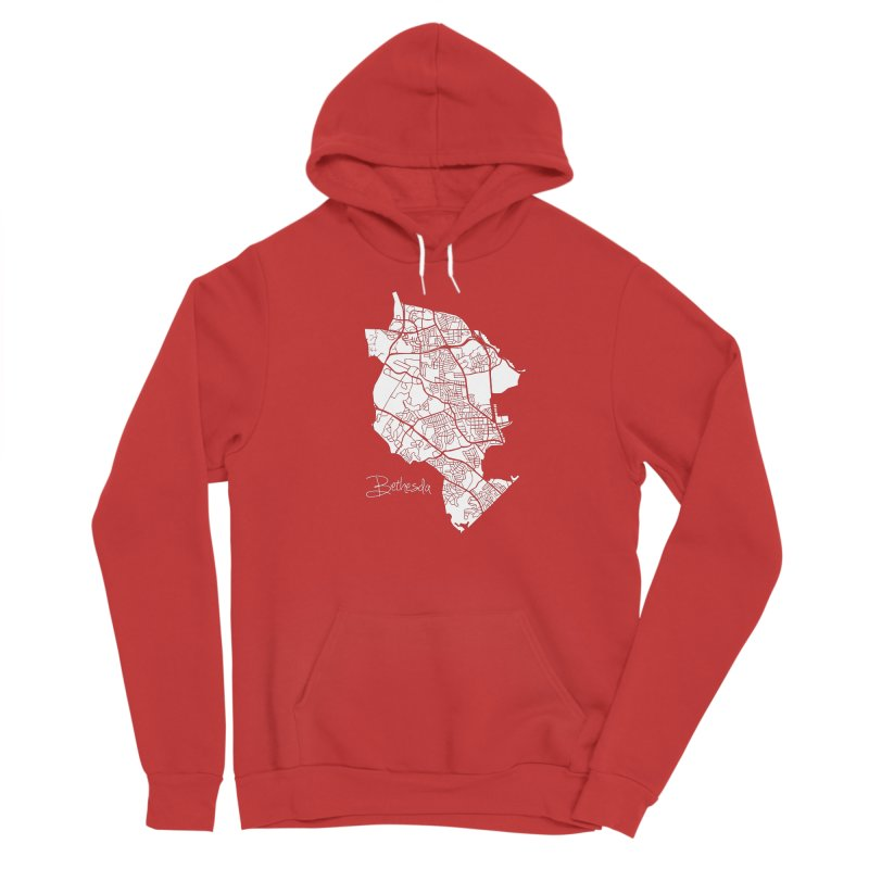 Bethesda Map Men's Pullover Hoody by @pike.and.rozay