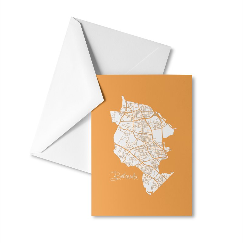 Bethesda Map Accessories Greeting Card by @pike.and.rozay