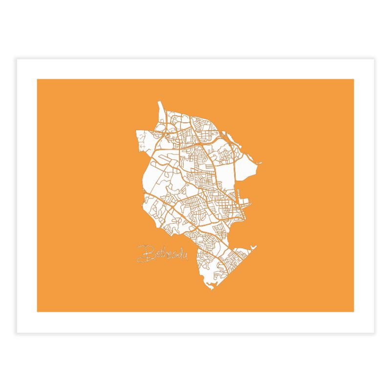 Bethesda Map Home Fine Art Print by @pike.and.rozay