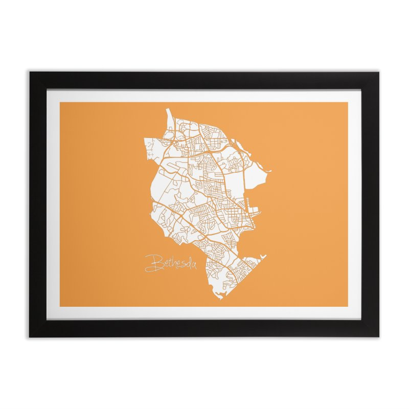 Bethesda Map Home Framed Fine Art Print by @pike.and.rozay