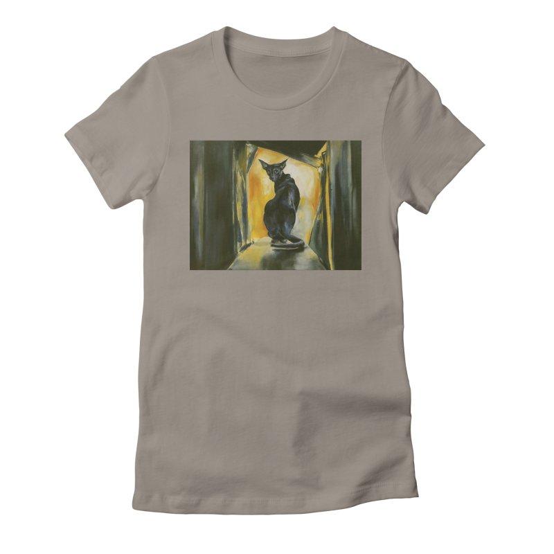 Blue Boy Women's Fitted T-Shirt by pikeart's Artist Shop