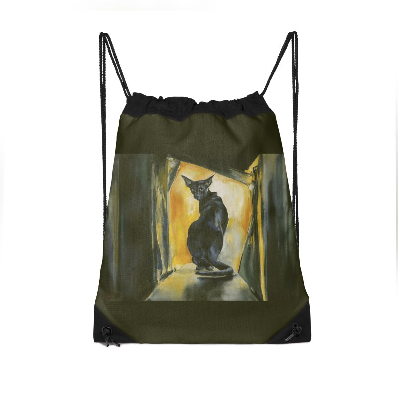 Blue Boy Accessories Drawstring Bag Bag by pikeart's Artist Shop