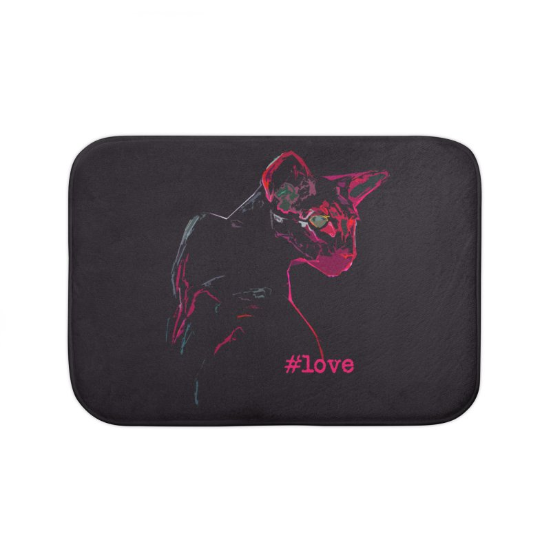 Mr. Red Love Home Bath Mat by pikeart's Artist Shop