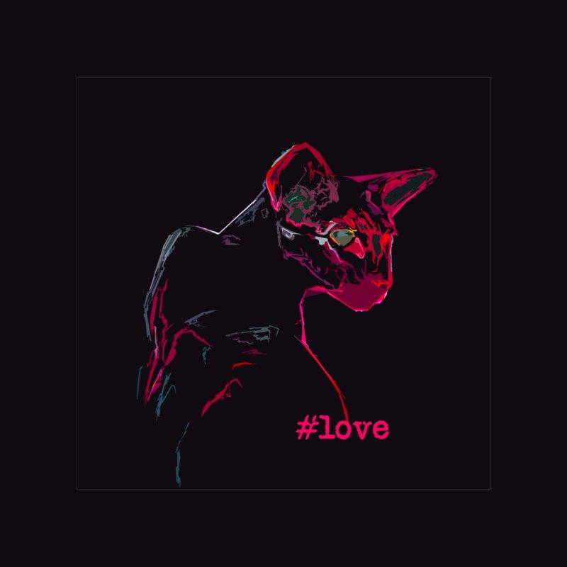 Mr. Red Love (dark background) Women's Scoop Neck by pikeart's Artist Shop