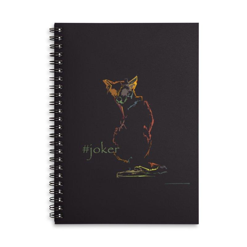 Joker Accessories Lined Spiral Notebook by pikeart's Artist Shop