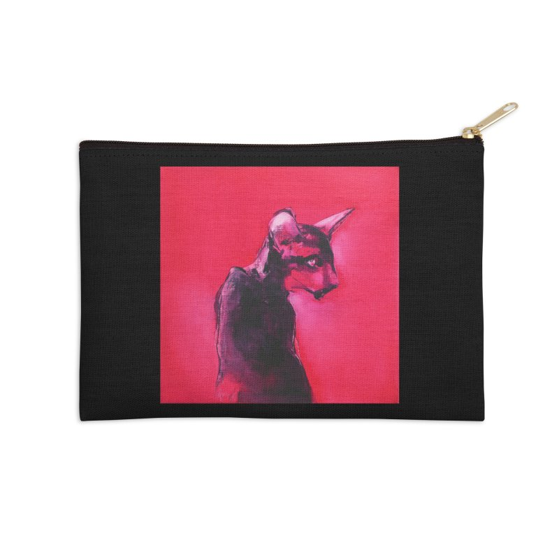 Lonely Boy (dark background) Accessories Zip Pouch by pikeart's Artist Shop