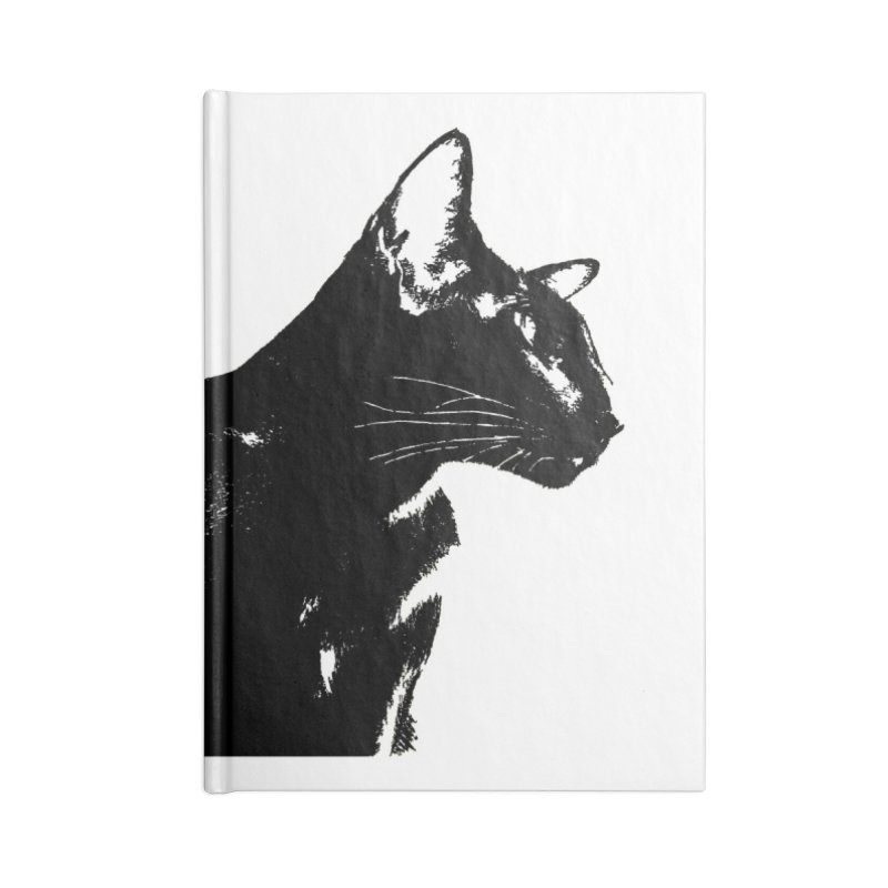 Mr. C. Black (black & white) Accessories Lined Journal Notebook by pikeart's Artist Shop