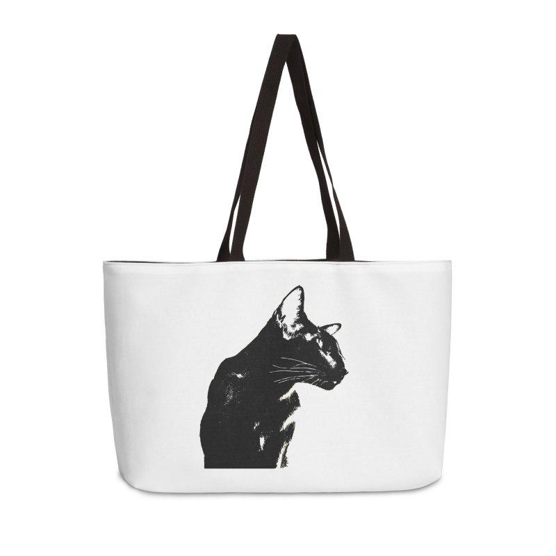 Mr. C. Black (black & white) Accessories Weekender Bag Bag by pikeart's Artist Shop