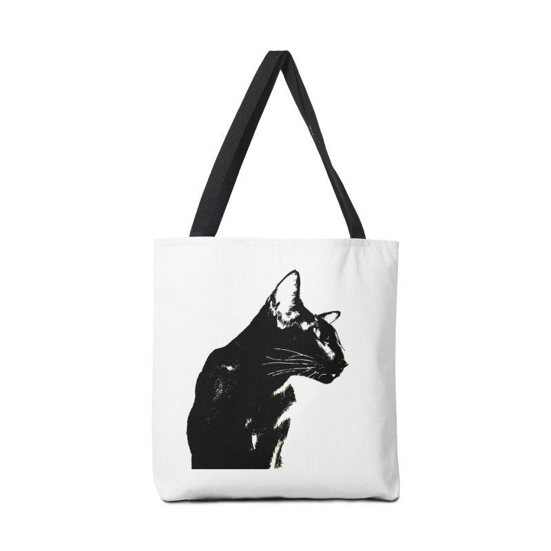 Mr. C. Black (black & white) Accessories Bag by pikeart's Artist Shop