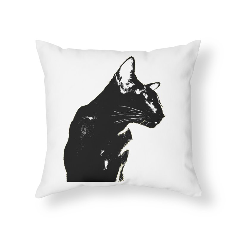 Mr. C. Black (black & white) Home Throw Pillow by pikeart's Artist Shop