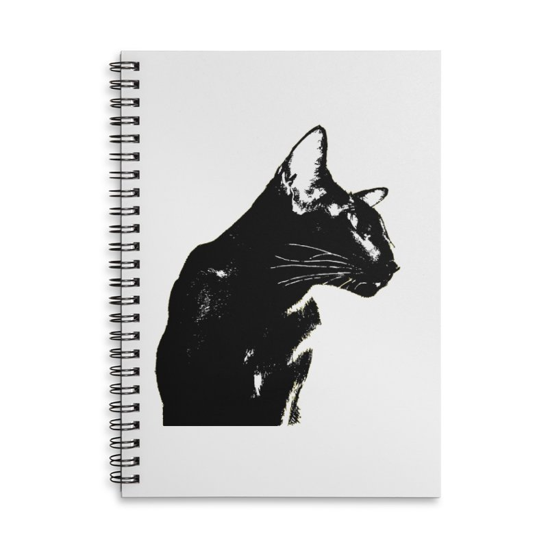 Mr. C. Black (black & white) Accessories Lined Spiral Notebook by pikeart's Artist Shop