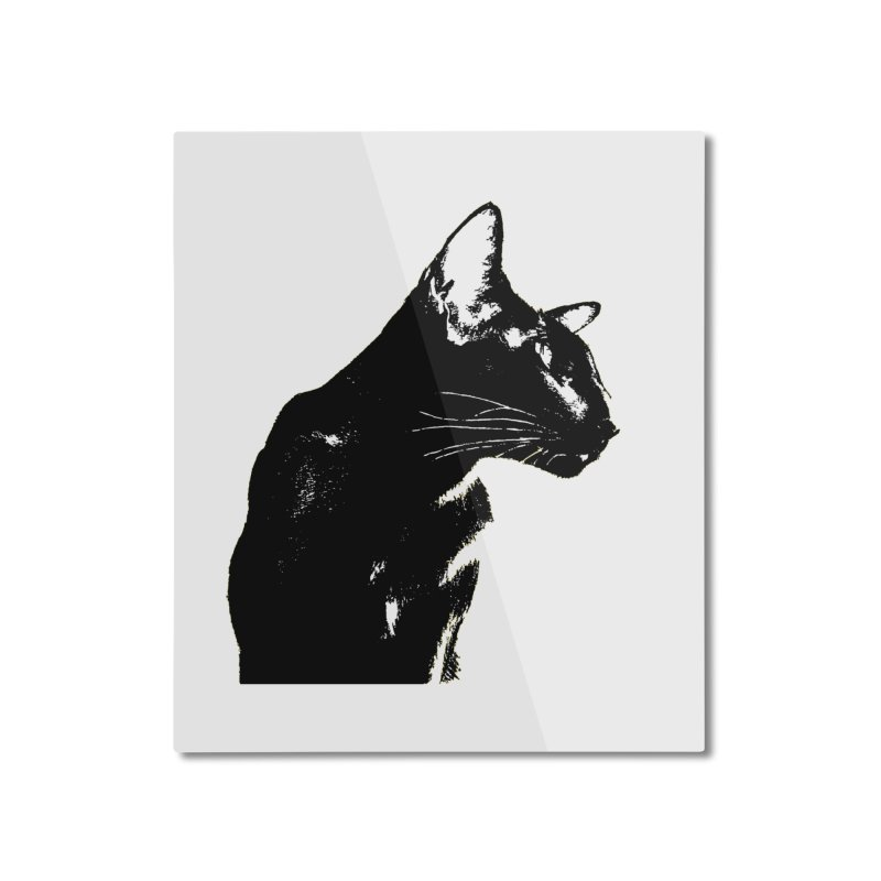 Mr. C. Black (black & white) Home Mounted Aluminum Print by pikeart's Artist Shop