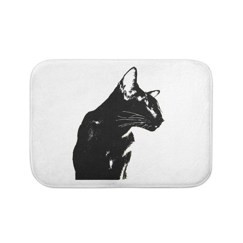 Mr. C. Black (black & white) Home Bath Mat by pikeart's Artist Shop