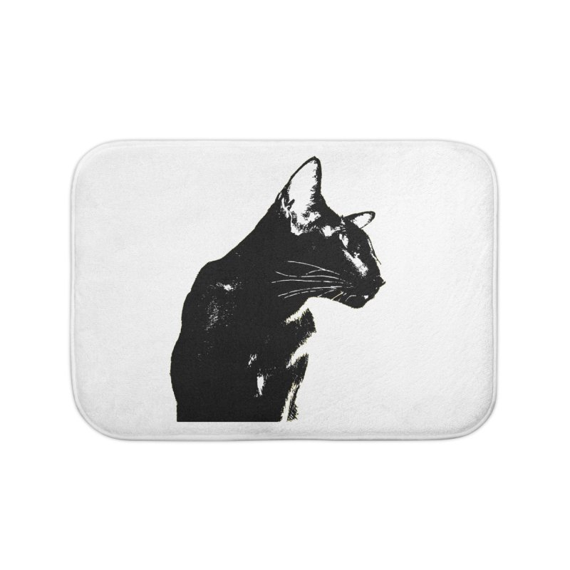 Mr. C. Black (black & white) Home Bath Mat by pikeart's Artist Shop