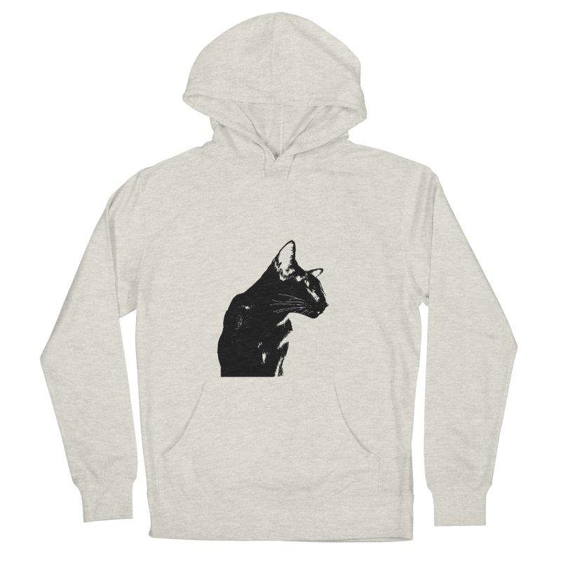 Mr. C. Black (black & white) Women's Pullover Hoody by pikeart's Artist Shop