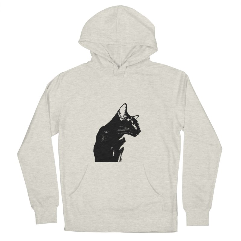 Mr. C. Black (black & white) Women's French Terry Pullover Hoody by pikeart's Artist Shop