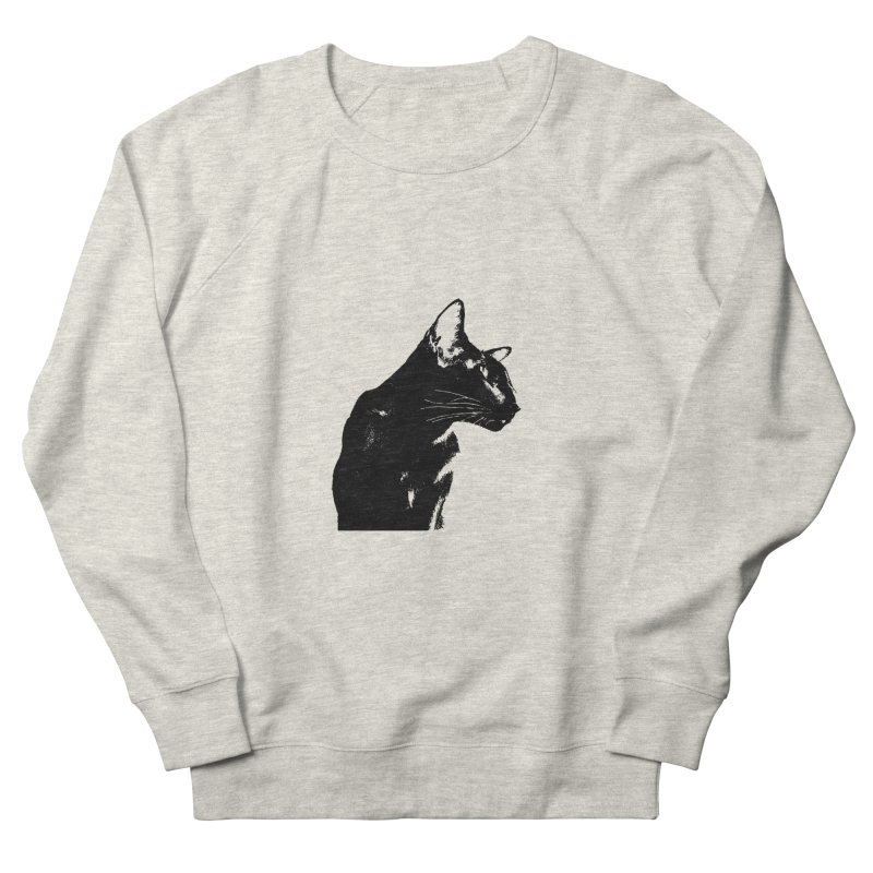 Mr. C. Black (black & white) Women's French Terry Sweatshirt by pikeart's Artist Shop