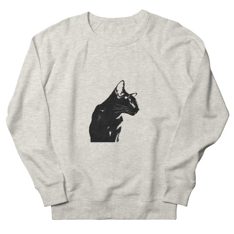 Mr. C. Black (black & white) Men's French Terry Sweatshirt by pikeart's Artist Shop