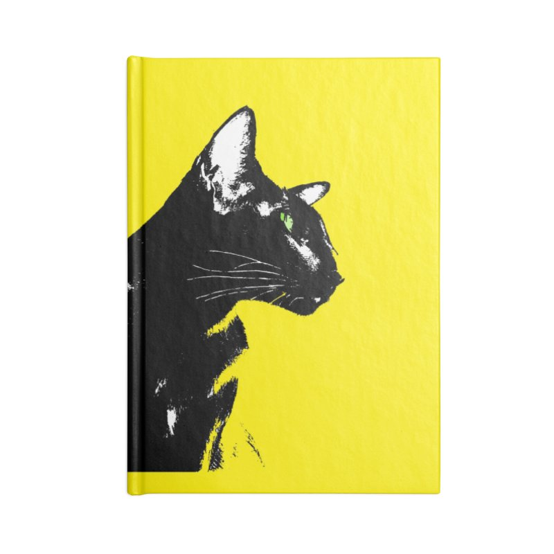 Mr. C. Black - Yellow Accessories Lined Journal Notebook by pikeart's Artist Shop