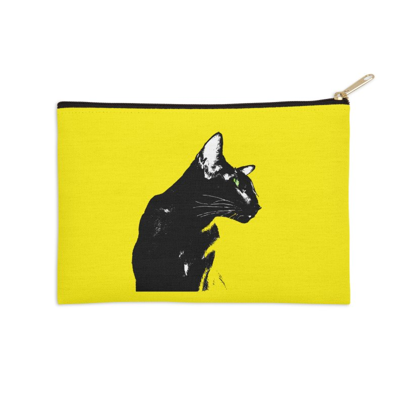 Mr. C. Black - Yellow Accessories Zip Pouch by pikeart's Artist Shop
