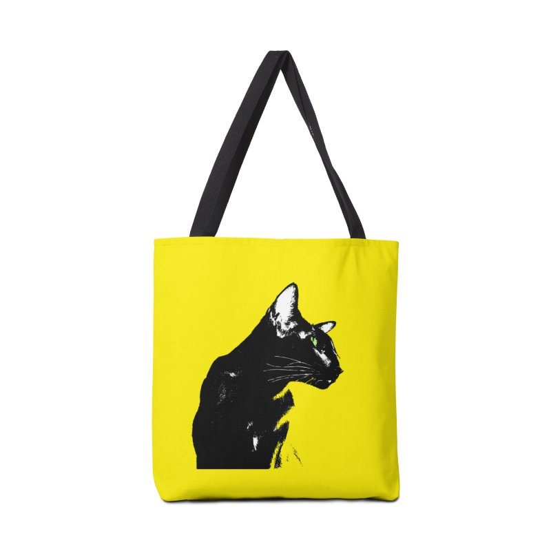 Mr. C. Black - Yellow Accessories Tote Bag Bag by pikeart's Artist Shop