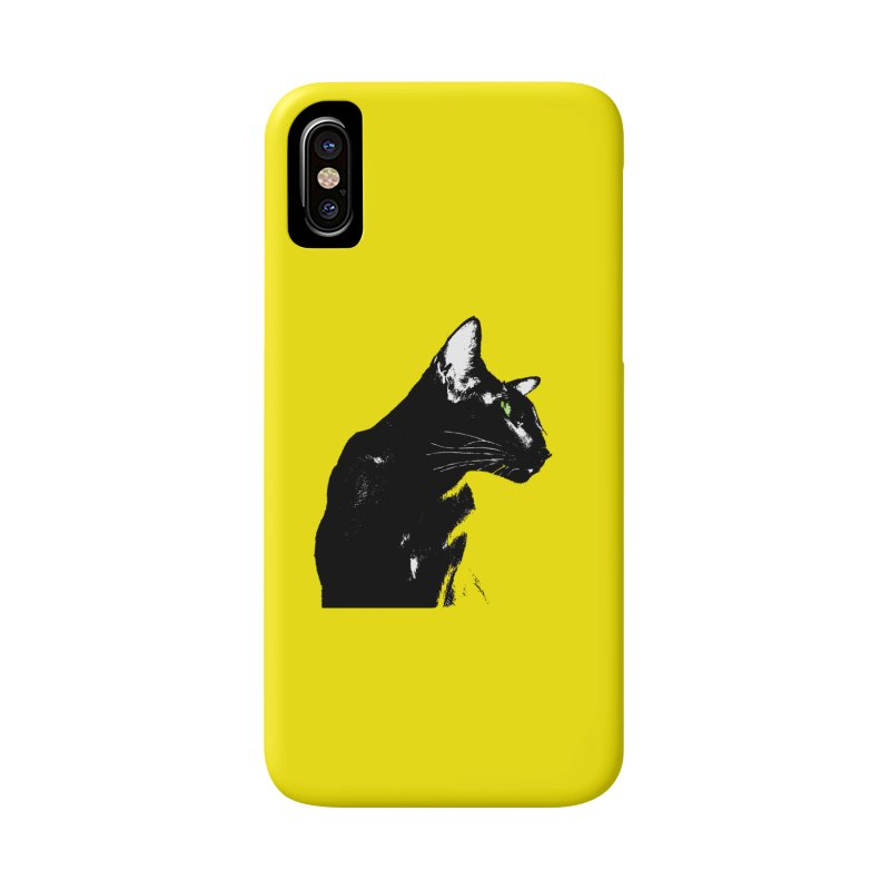 Mr. C. Black - Yellow Accessories Phone Case by pikeart's Artist Shop