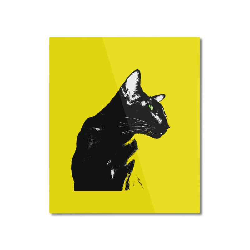 Mr. C. Black - Yellow Home Mounted Aluminum Print by pikeart's Artist Shop