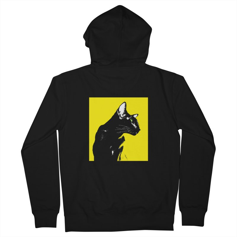Mr. C. Black - Yellow Women's Zip-Up Hoody by pikeart's Artist Shop