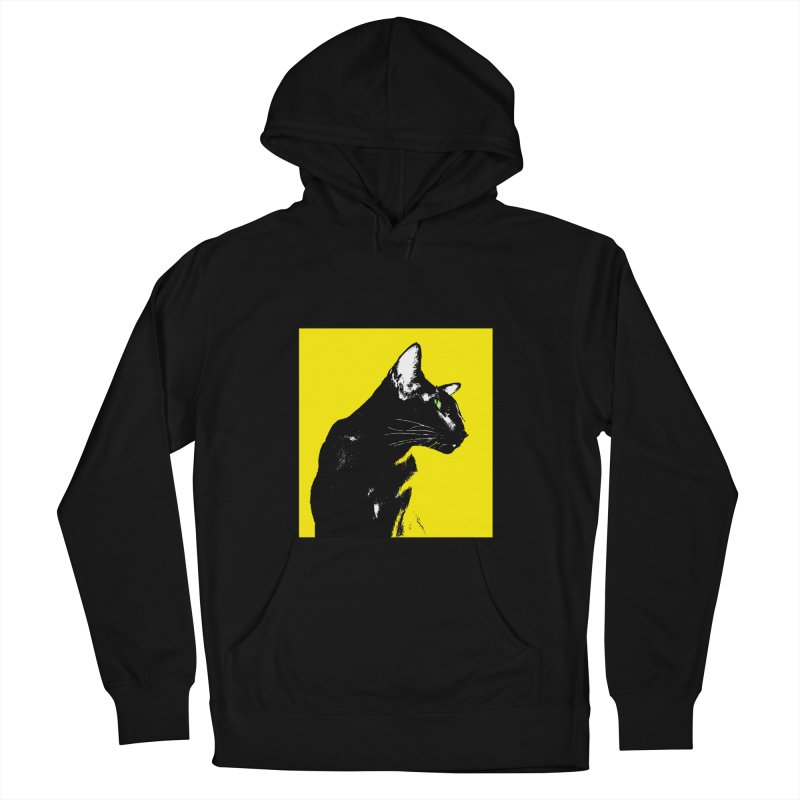 Mr. C. Black - Yellow Men's French Terry Pullover Hoody by pikeart's Artist Shop
