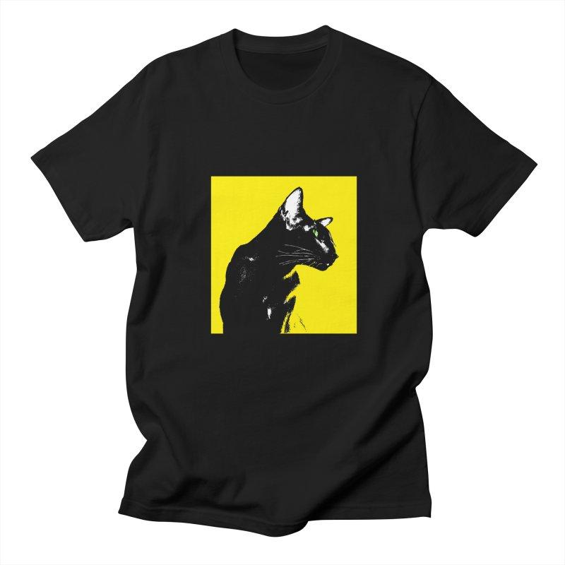 Mr. C. Black - Yellow Women's Regular Unisex T-Shirt by pikeart's Artist Shop