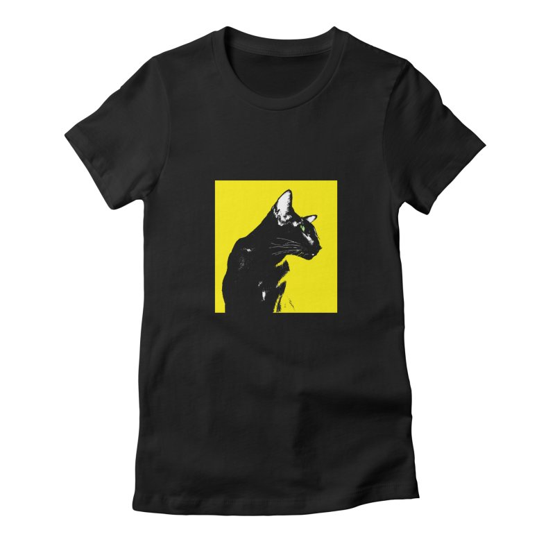 Mr. C. Black - Yellow Women's T-Shirt by pikeart's Artist Shop