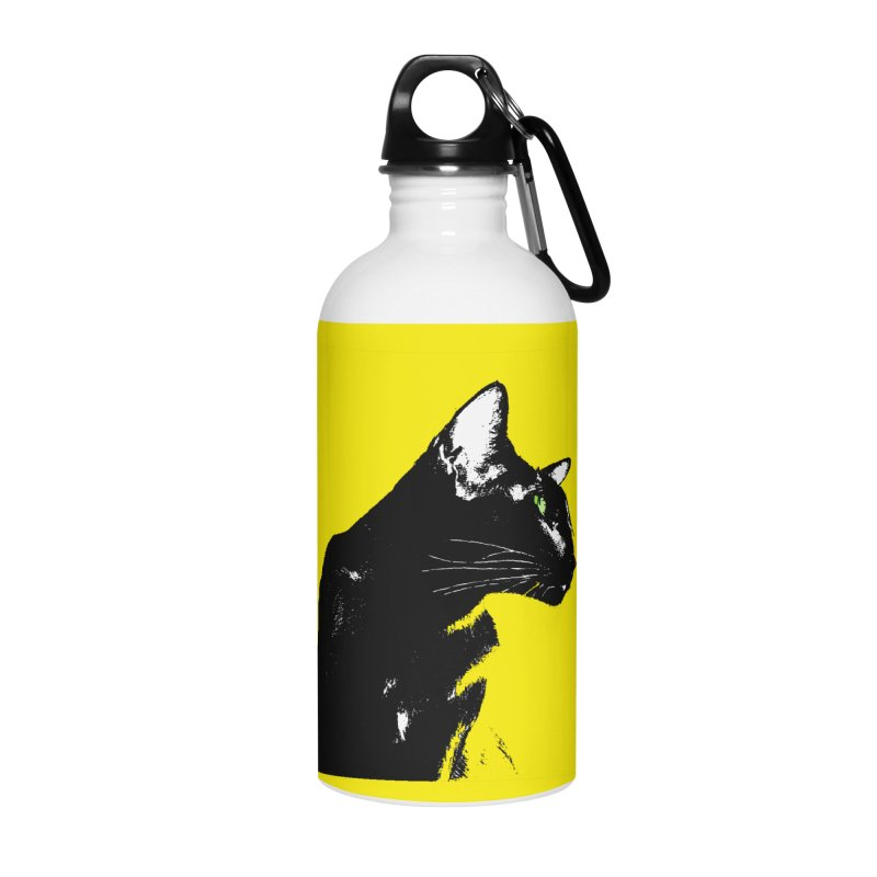 Mr. C. Black - Yellow Accessories Water Bottle by pikeart's Artist Shop