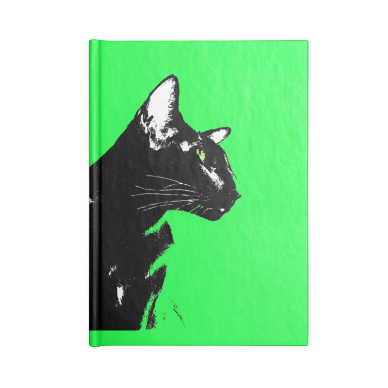 Mr. C. Black - Green Accessories Lined Journal Notebook by pikeart's Artist Shop