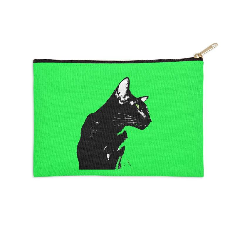 Mr. C. Black - Green Accessories Zip Pouch by pikeart's Artist Shop