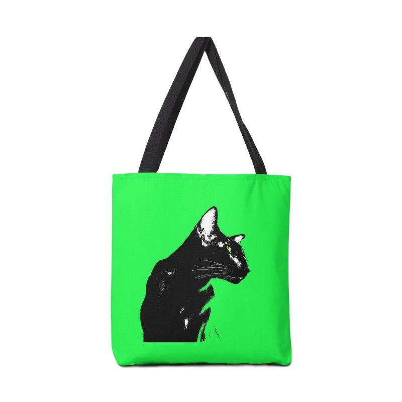 Mr. C. Black - Green Accessories Bag by pikeart's Artist Shop