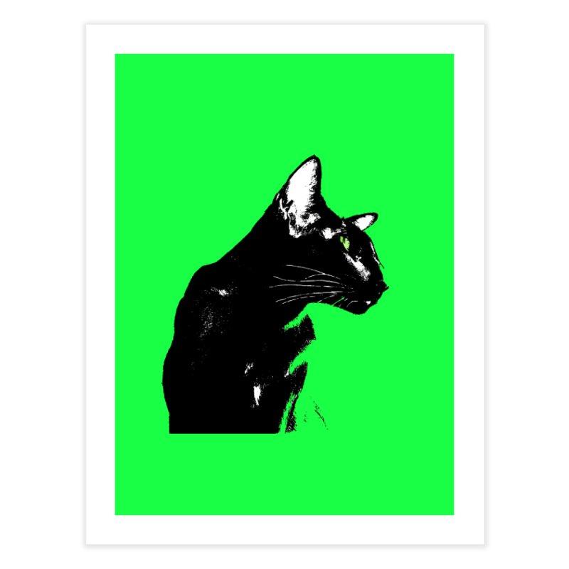 Mr. C. Black - Green Home Fine Art Print by pikeart's Artist Shop