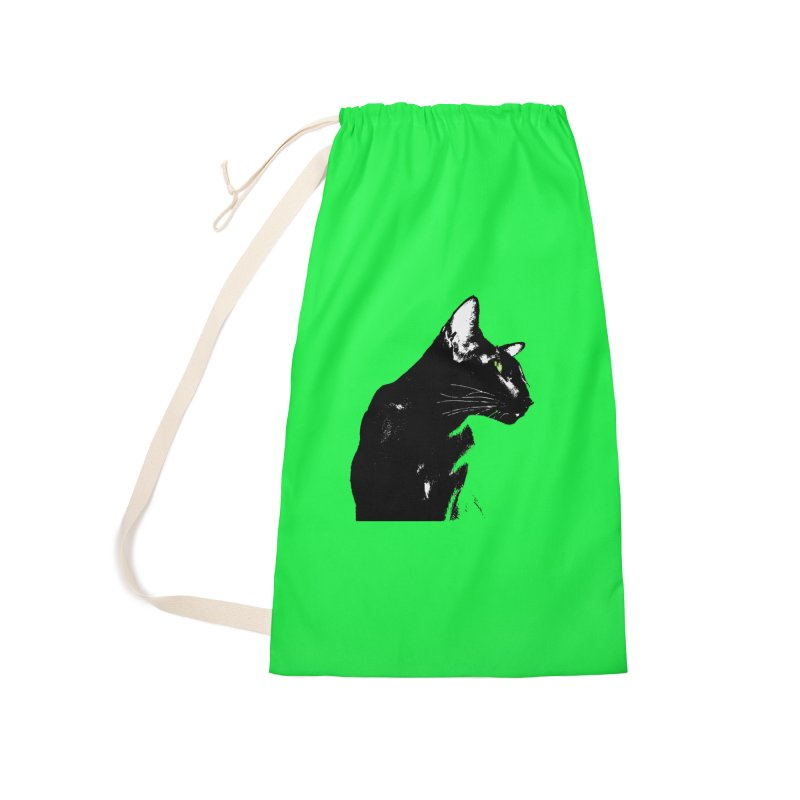 Mr. C. Black - Green Accessories Laundry Bag Bag by pikeart's Artist Shop