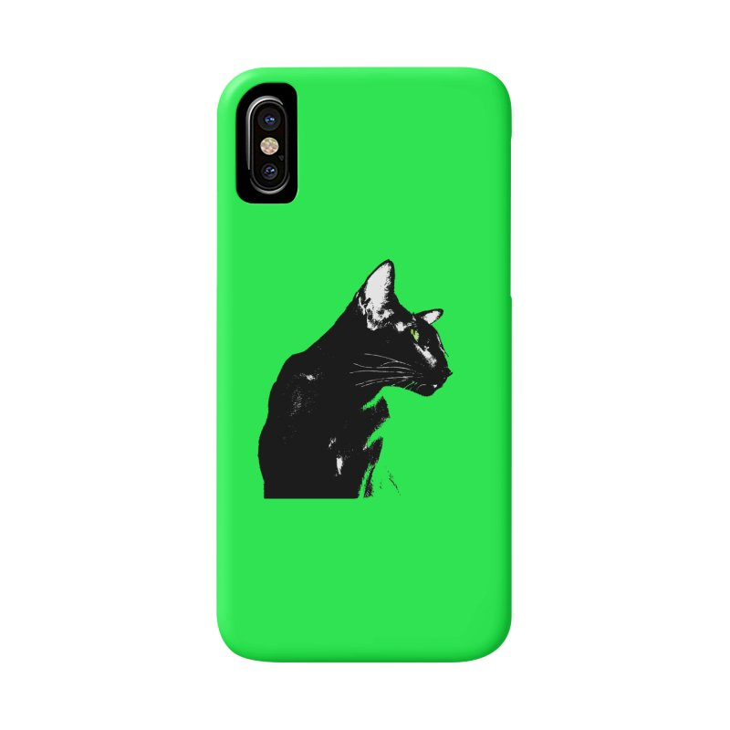 Mr. C. Black - Green Accessories Phone Case by pikeart's Artist Shop