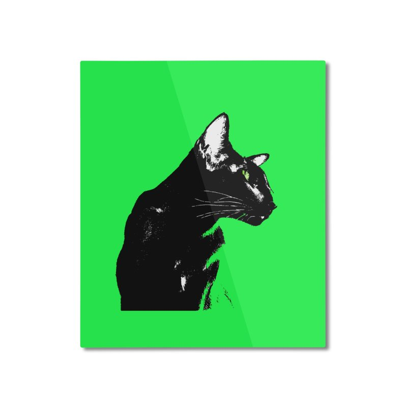 Mr. C. Black - Green Home Mounted Aluminum Print by pikeart's Artist Shop