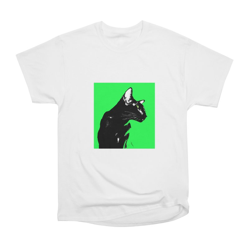 Mr. C. Black - Green Women's T-Shirt by pikeart's Artist Shop