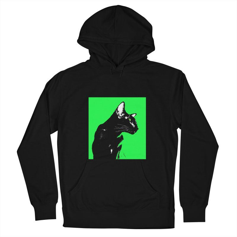 Mr. C. Black - Green Men's French Terry Pullover Hoody by pikeart's Artist Shop