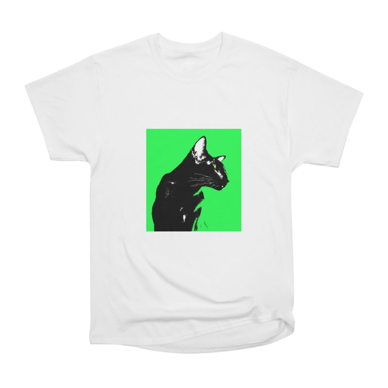 Mr. C. Black - Green Men's Heavyweight T-Shirt by pikeart's Artist Shop