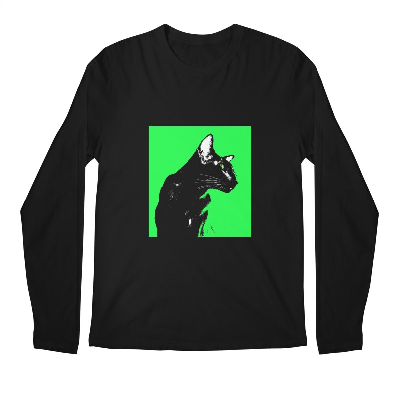 Mr. C. Black - Green Men's Regular Longsleeve T-Shirt by pikeart's Artist Shop