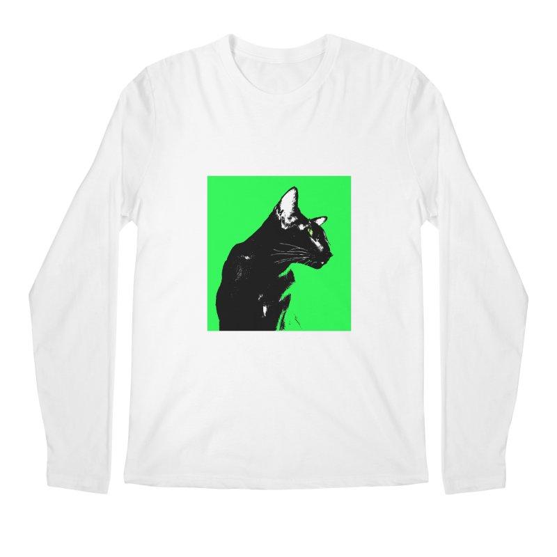 Mr. C. Black - Green Men's Regular Longsleeve T-Shirt by pikeart's Artist Shop