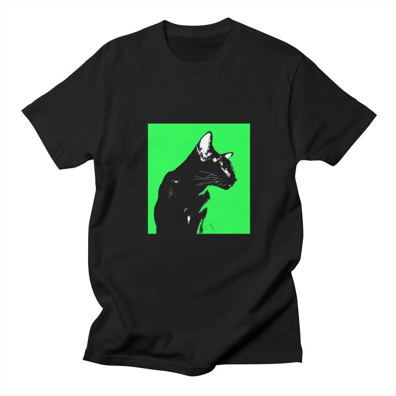 Mr. C. Black - Green Men's Regular T-Shirt by pikeart's Artist Shop