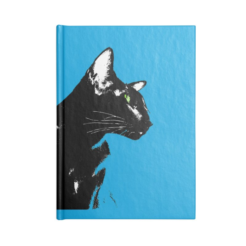 Mr. C. Black - Blue  Accessories Lined Journal Notebook by pikeart's Artist Shop